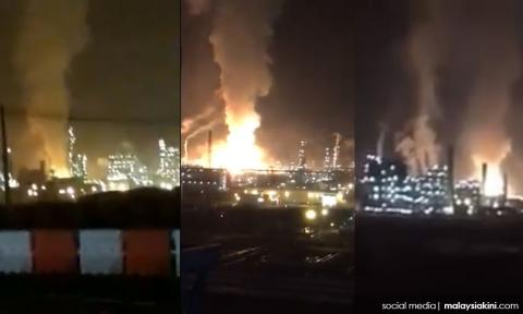 Image result for Massive blast at Johor Petronas facility