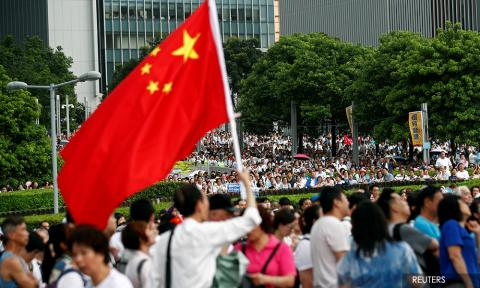 Thousands In Pro Police Rally As Hong Kong Braces For