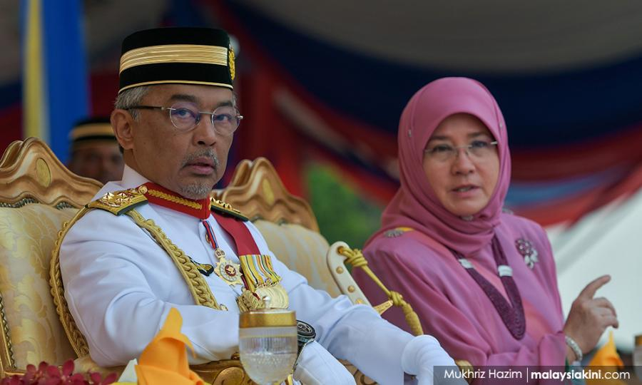 Malaysiakini - Yang di-Pertuan Agong arrives in UK for a special visit