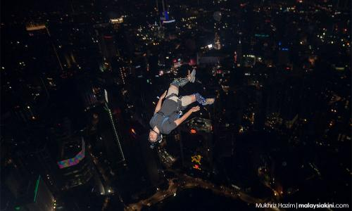 Leaping from the KL Tower