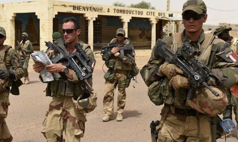 Image result for French forces killed 33 militants in Mali- President Macron