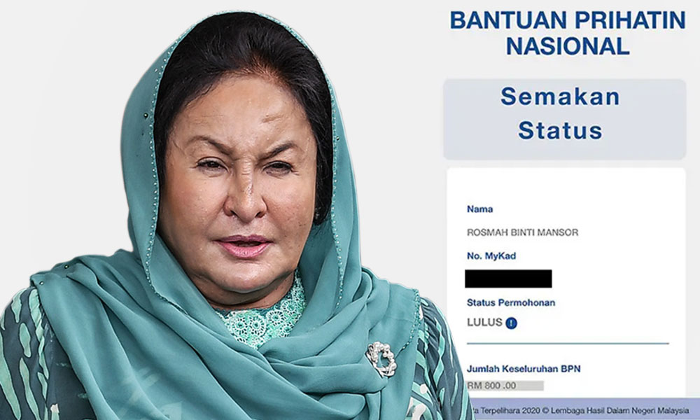Rosmah Mansor was found to be eligible for BPN